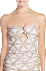 Women's Michael Michael Kors 'Luna' Long Bar Tankini Top