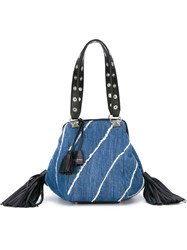 Sonia Rykiel Frayed 'Flore' Tote Bag Blue