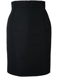 Gareth Pugh Mid Pencil Skirt Black