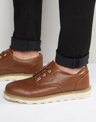 Bellfield Oxford Shoes In Tan Leather Tan