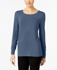 Alfani Long Sleeve Ruched Top Only At Macy's Global Blue