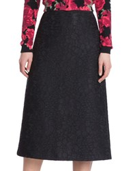 Tracy Reese Bonded Lace A Line Skirt Black