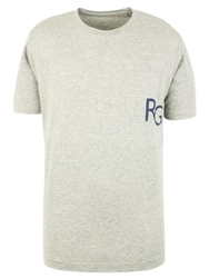 Racing Green Higgins Logo And Pocket T Shirt Grey Marl