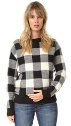 Hatch The Louisa Pullover Black White Plaid