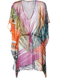 Etro Printed Sheer Kaftan Multicolour