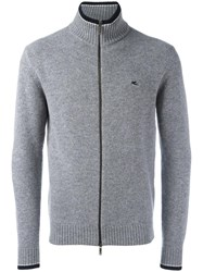 Etro Zipped Jumper Grey