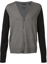 Atm Anthony Thomas Melillo Atm Two Tone Cardigan Grey