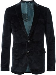 Etro Two Button Blazer Blue