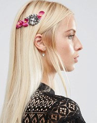 Asos Pretty Metal Flower Back Headband Purple