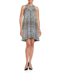 Rachel Roy Patterned Trapeze Dress Ivory Combo