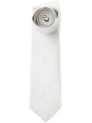 Kenzo 'Oui' Embroidered Tie Grey