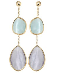 Lord And Taylor 14 Kt. Yellow Gold Multi Drop Earrings