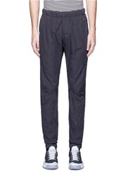 Stone Island Elastic Waist Cotton Blend Jogging Pants Black