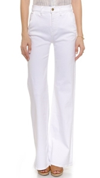 7 For All Mankind High Waisted Fashion Trouser Jeans Runway White