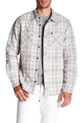 Quiksilver Cottons Peak Faux Shearling Lined Shirt Jacket Gray