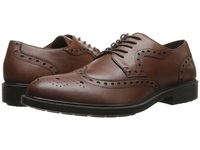 Hush Puppies Issac Banker Dark Brown Wp Leather Men's Lace Up Wing Tip Shoes