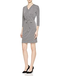 Romeo And Juliet Couture Weave Print Wrap Dress Compare At 140 Black Whit