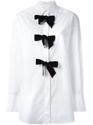See By Chloe Bow Applique Shirt White