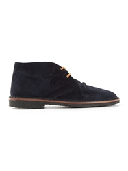Golden Goose Deluxe Brand Distressed Desert Boots Blue