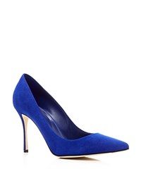 Sergio Rossi Godiva Pointed Toe High Heel Pumps Dusk