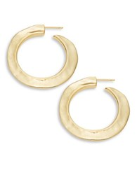Uno De 50 Hammered Metal Hoop Earrings Gold