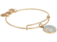 Alex And Ani Blue Special Delivery Charm Bangle Rafaelian Gold Finish Bracelet