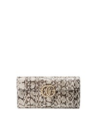 Gucci Gg Marmont Pearly Snakeskin Clutch Bag Natural Neutral Pattern