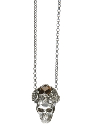 Ugo Cacciatori Skull Necklace Black