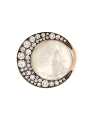 Noor Fares Eclipse Diamond And Moonstone Ring