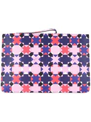 Emilio Pucci Small Wristlet Clutch Pink And Purple