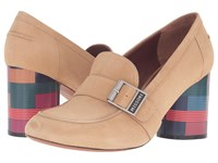 Missoni Graphic Heel Loafer Beige Women's Lace Up Casual Shoes
