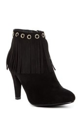 Bucco Elspeth Faux Fur Lined Heeled Bootie Black