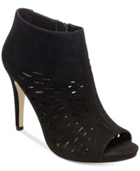 Madden Girl Rockella Perforated Dress Booties Women's Shoes Black