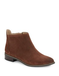 Karl Lagerfeld Satin Suede Ankle Boots Brown