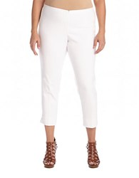 Karen Kane Plus Capri Pants White