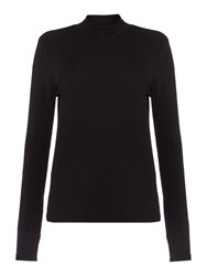 Therapy Roll Neck Top Long Sleeve Black