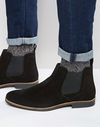Red Tape Chelsea Boots Black Suede Black