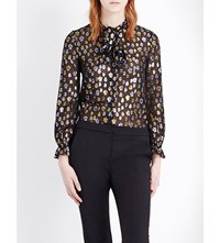 Claudie Pierlot Cascade Silk Blend Shirt Noir