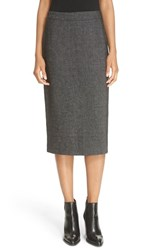 Dkny Women's Rib Knit Midi Skirt Black
