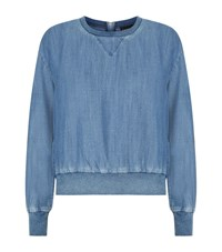 Juicy Couture Behati Chambray Sweatshirt Female Blue