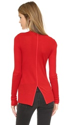 Rag And Bone Elise Long Sleeve Tee Fiery Red