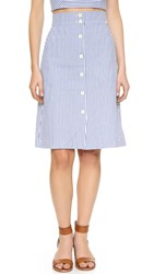 Club Monaco Valencina Skirt Blue White Stripe