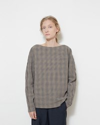 Christophe Lemaire Checked Seersucker Blouse