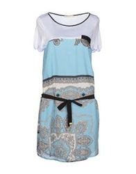 Massimo Alba Short Dresses Sky Blue