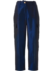 Chanel Vintage Cargo Trousers Blue