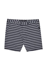 French Connection Oxford Stripe Shorts Marine