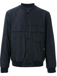 T By Alexander Wang Padded Bomber Jacket Black