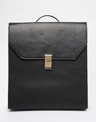 Asos Clean Boxy Backpack Black