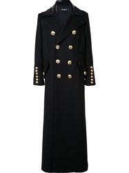 Dsquared2 Oversized Double Breasted Coat Black