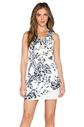 Minty Meets Munt Surreal Mini Dress Black And White